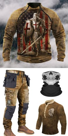 Stylish Mens Outfits, Cool Outfits, Casual Outfits, Men Casual, Mode Steampunk, Steampunk Cosplay, Tactical Clothing, Tactical Wear, Mens Outdoor Clothing