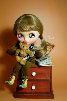 Your place to buy and sell all things handmade Sleepy Eyes, Doll Wigs, Cute Dolls, Freckles, Blythe Dolls, Little Girls, Unique Gifts, Handmade Items, Carving