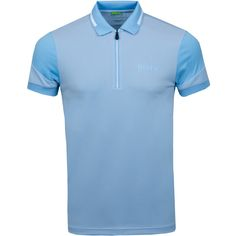 The Prek Pro from BOSS athleisure is a technical polo with a pique finish on the body and satin finished panelling on the sleeves. Polo Shirt Outfits, Blue Polo Shirts, Polo Vest, Men's Polo, Polo Shirt Design, Men Looks, Mens Fitness, Hugo Boss, Sportswear