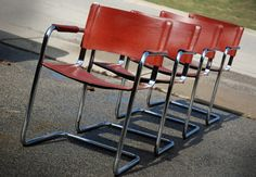 Mid Century C2 Cidue chrome chairs + table. Made in Italy on Etsy, $351.91
