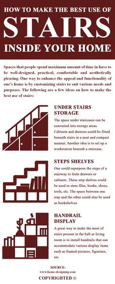 Apart from using staircases for their primary purpose, there are multiple ways in which stairs can be utilized. The vacant spaces below stairs can be used for storage purposes.