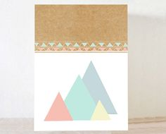 triangle, Geometrical, pastel, Retro poster,   home decor,  VIntage , Art for home ,retro wall art, Nursery print,  modern art
