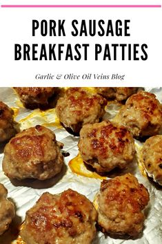 Fancy Meals, Quick Meals, Sausage Recipes, Cooking Recipes, Homemade Breakfast Sausage, Bacon Bacon, Simple Recipes, Comfort Foods, Olive Oil