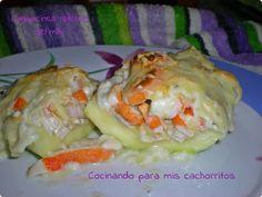 Calabacines rellenos del mar | Cocinando para mis cachorritos