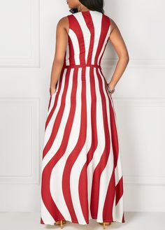 Pocket Round Neck Sleeveless High Waist Maxi Dress on sale only US$37.26 now, buy cheap Pocket Round Neck Sleeveless High Waist Maxi Dress at liligal.com