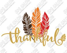 This is a digital download of a Thankful cutting file, which can be imported to a number of cutting machine software programs. With this purchase, you will receive a zipped folder containing this image in SVG, DXF, EPS, PNG, and JPEG format. Use these files to create Thanksgiving iron on vinyl shirt decals, signs, mugs, wall decals, and more!  Compatibility Overview:  Silhouette Studio Basic (Free) Edition: DXF Silhouette Studio Designer (Paid) Edition: SVG Cricut Design Space: SVG Make the…
