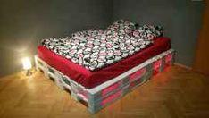 Červené podsvícení palet Mattress, Sweet Home, Pallet Ideas, Bed, Furniture, Home Decor, Decoration Home, House Beautiful, Stream Bed