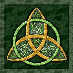 "The Celtic trinity knot or triquetra (Latin for ""three cornered"") can have a number of meanings.    The corners can represent:    Past, Present, Future.    Mind, Body, Spirit.    Thought, Feeling, Emotion.    Power, Intellect, Love.    Creation, Preservation, Destruction."