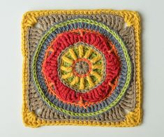 Block 6 from Circles of the Sun Mystery CAL (overlay crochet). Designed by LillaBjornCrochet