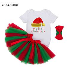 0-24M Infant Christmas Costume Kids Bodysuit Headband Lace Tutu Skirt Baby Girl Clothes Sets Infant Clothing Conjunto Bebe #Affiliate