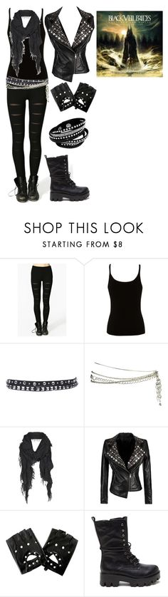 """""""Wretched and DIvine"""" by grey-daray ❤ liked on Polyvore featuring Lipsy, MANGO, Forever 21 and AllSaints"""