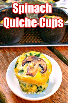 Completely gluten-free and low-carb is this healthy and delicious SPINACH QUICHE CUPS that everyone raves about. You can tweak the recipe to add your favorite vegetables! Best Vegetable Recipes, Best Lunch Recipes, Best Breakfast Recipes, Brunch Recipes, Vegetarian Recipes, Breakfast Meals, Free Recipes, Dinner Recipes, Quiche Cups