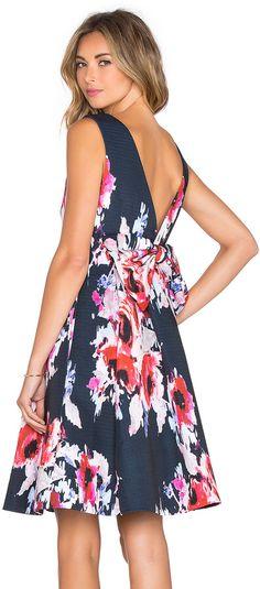 kate spade new york Hazy Floral Fit & Flare Dress