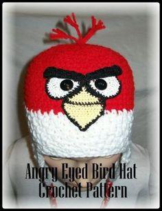 Angry+Eyed+Bird+Hat+Crochet+Pattern