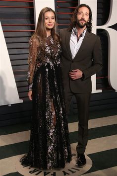 Adrien Brody and his girlfriend, Lara Lieto, attend the 2016 Vanity Fair Oscar Party at the Wallis Annenberg Center for the Performing Arts in Beverly Hills, Calif., on Feb. 28, 2016