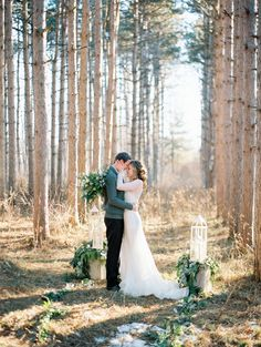 Dreamy anniversary shoot: Photography : Kristin La Voie Photography | Wedding Dress : Anna Campbell Read More on SMP: http://www.stylemepretty.com/2017/02/02/dreamy-forest-anniversary-shoot/