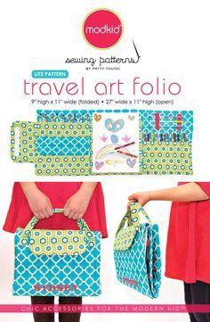 Travel Art Folio PDF Downloadable LITE Pattern Tutorial By MODKID For Kids Of