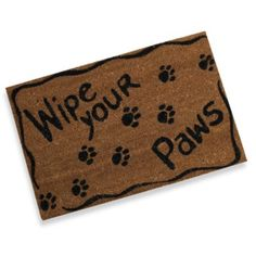 Wipe Your Paws Doormat - BedBathandBeyond.com
