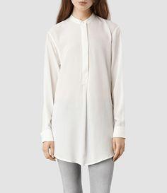 Womens Elise Shirt (Chalk/Chalk) | ALLSAINTS.com