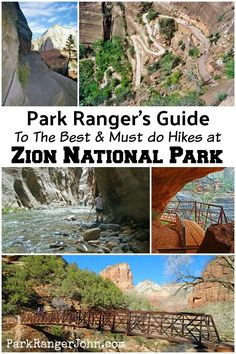 Guide to 13 great Hikes in Zion National Park in Utah! Hikes highlighted include Angels Landing, The Narrows, and Emerald Pools. 12 Hikes in Zion National Park Utah Hikes, Zion Narrows Hike, Capitol Reef National Park, Us National Parks, Grand Canyon National Park, Montezuma, Monteverde, Travel, Honeymoons