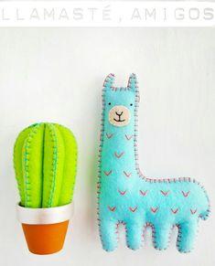Pablo, the felt llama. Llamasté, amigos
