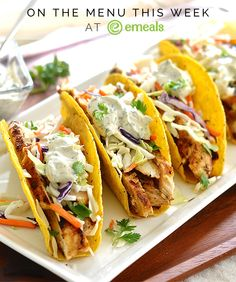 Spicy Chicken Tacos with Citrus-Sour Cream Sauce | eMeals
