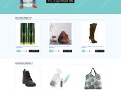 E-commerce home page design. Page Design, Ecommerce, Organization, Creative, Home, Products, Getting Organized, Organisation, Ad Home