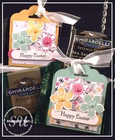 Easter Treats, Stampin Up, Petite Petals, Teeny Tiny Wishes, Scallop Tag Topper Punch