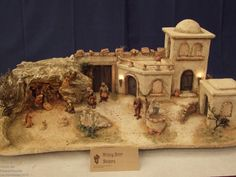 Christmas Crib Ideas, Christmas Decorations, Christmas Village Display, Stone Texture, Amazing Art, Cribs, Nativity, Miniatures, Xmas