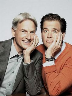 Photo of Mark Harmon & his friend   Michael Weatherly