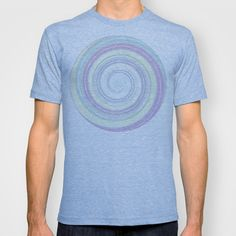 Re-Created Spin Painting No. 9 T-shirt by #Robert #Lee - $18.00 #art #spin #painting #drawing #design #circle