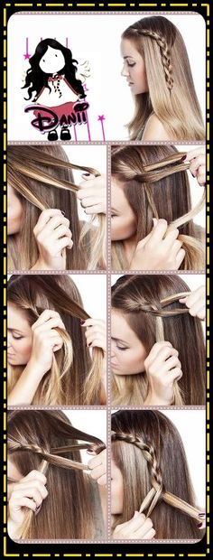 how-to-do-hair-style-hair-twist-updos-braids-pony-flowers-9.jpg (288×757)