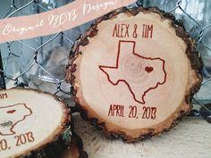 easily the most diy wedding favors I've seen.. This website has expired, but the idea w/ names and date could be made easily for coaster favors