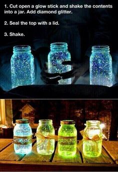 This would be cool to do to wine bottles...I just don't know how long it would last...or just keep doing it...nice for outside on the patio.