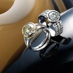 yellow and white gold diamond ring, & white gold diamond ring Somerset West, Fine Jewelry, Jewellery, White Gold Diamonds, Jewelry Collection, Cufflinks, Wedding Rings, Seasons, Jewels