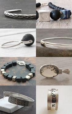 SunSan Jewelry by Hobby Habit on Etsy--Pinned with TreasuryPin.com Greek Jewelry, Jewelry Art, Jewelry Design, Jewellery, Schmuck Design, Contemporary Art, Collections, Bracelets, Silver