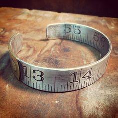Vintage Metal Ruler Bracelet