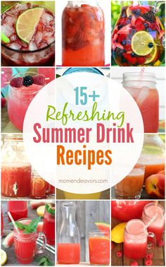15+ Summer Drink Recipes via momendeavors.com
