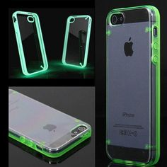 Ultra Thin Clear Transparent Crystal Gel Luminous Style Glowing in Dark Hard back Case Cover For iphone 5 5s SE + Nice gift box 072702