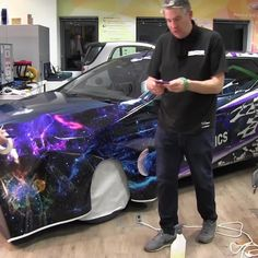 Never underestimate the importance of a new squeegee edge 🤓  Head over to our YouTube channel for the latest Wrap It episode now.  #rolandg #wrapit #vehiclewrap #galaxy #carwrap #vinylwrap #carstyle #vehiclewrap #vehiclewraps #customcars #wrappedcars #wrappeworld#leyednotsprayed #thisaintpaint #carwrapping Vehicle Wraps, Car Wrap, Custom Cars, Channel, Youtube, Style, Swag, Car Tuning, Modified Cars