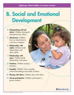 A set of colorful posters showing the HighScope key developmental indicators… Child Development Stages, Social Emotional Development, Toddler Development, Learning Stories, Play Based Learning, Early Learning, Infant Activities, Learning Activities, Early Education