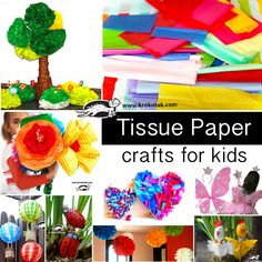 Tissue Paper - crafts for kids