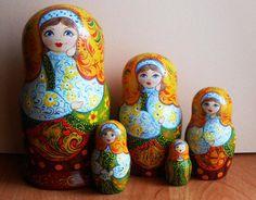 Russian nesting doll matryoshka wooden babushka dolls handmade buy at https://www.etsy.com/shop/Artworkshop1