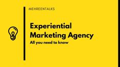 Want to learn what is an Experiential Marketing Agency Learn more about experiential agencies and how they work in this post. #marketing #experientialmarketing #blogpost #creativeminds #creativity - Mehreen Talks Request For Proposal, Experiential Marketing, Interview Preparation, The Agency, Competitor Analysis, Get The Job, Need To Know, Finance, How To Apply