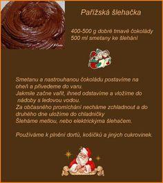 Parížska šľahačka Christmas Baking, Christmas Cookies, Czech Desserts, Pies Art, Czech Recipes, Food And Drink, Sweets, Pastries, Navidad
