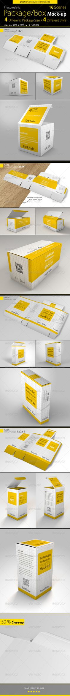 Multipurpose Package / Box Mock-ups - Product Mock-Ups Graphics