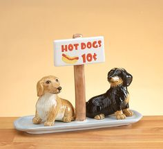 Doxie salt N pepper shakers,   This is so cute!