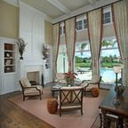 sunroom with drapes