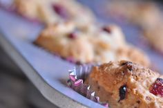 gluten free lemon cranberry muffin