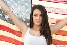 patriotic senior photos